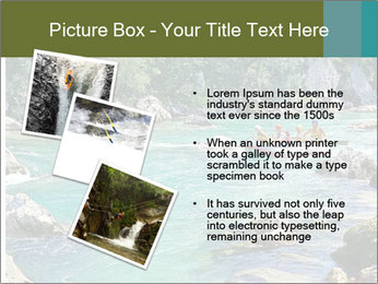 White water rafting PowerPoint Template - Slide 17