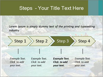 White water rafting PowerPoint Template - Slide 4