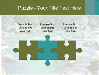 White water rafting PowerPoint Template - Slide 42