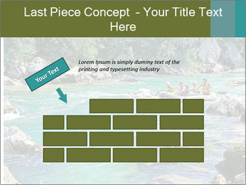 White water rafting PowerPoint Template - Slide 46