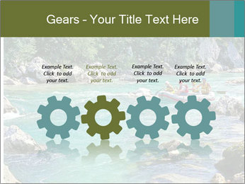 White water rafting PowerPoint Template - Slide 48