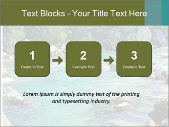 White water rafting PowerPoint Template - Slide 71