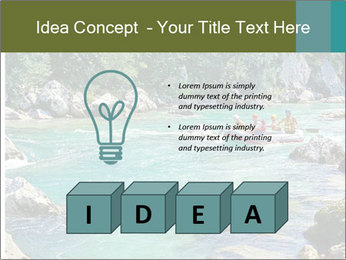 White water rafting PowerPoint Template - Slide 80