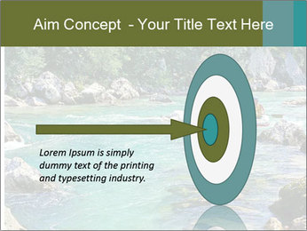 White water rafting PowerPoint Template - Slide 83