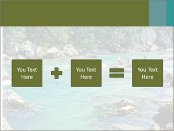 White water rafting PowerPoint Template - Slide 95