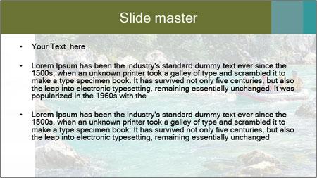 White water rafting PowerPoint Template - Slide 2