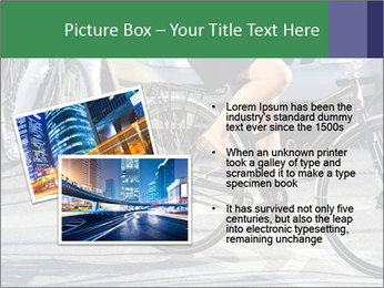 Woman on bicycle in traffic PowerPoint Template - Slide 20