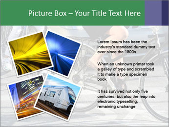 Woman on bicycle in traffic PowerPoint Template - Slide 23
