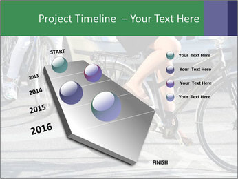 Woman on bicycle in traffic PowerPoint Template - Slide 26