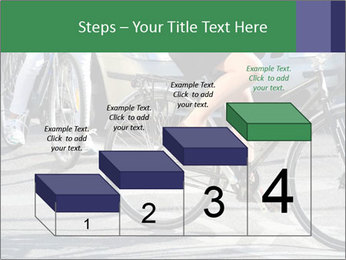 Woman on bicycle in traffic PowerPoint Template - Slide 64