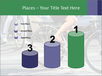 Woman on bicycle in traffic PowerPoint Template - Slide 65