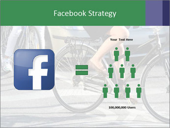 Woman on bicycle in traffic PowerPoint Template - Slide 7