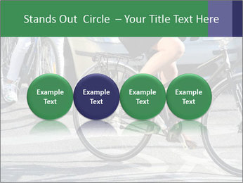 Woman on bicycle in traffic PowerPoint Template - Slide 76