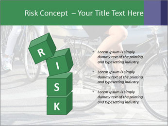 Woman on bicycle in traffic PowerPoint Template - Slide 81