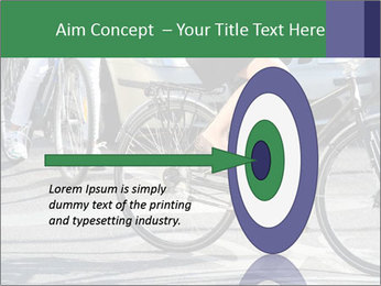 Woman on bicycle in traffic PowerPoint Template - Slide 83