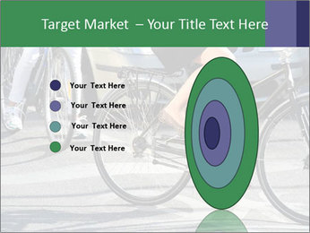 Woman on bicycle in traffic PowerPoint Template - Slide 84