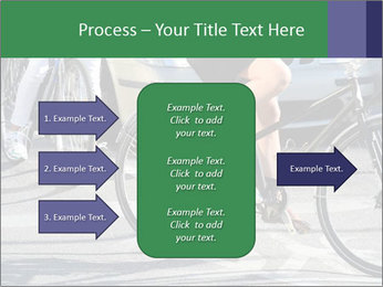 Woman on bicycle in traffic PowerPoint Template - Slide 85