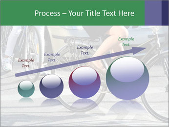 Woman on bicycle in traffic PowerPoint Template - Slide 87