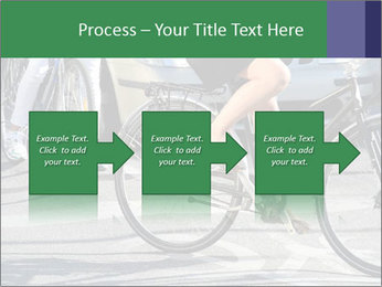 Woman on bicycle in traffic PowerPoint Template - Slide 88