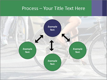 Woman on bicycle in traffic PowerPoint Template - Slide 91