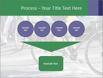 Woman on bicycle in traffic PowerPoint Template - Slide 93