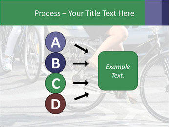 Woman on bicycle in traffic PowerPoint Template - Slide 94