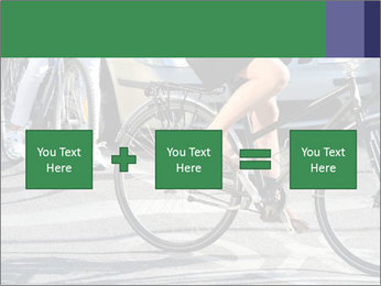 Woman on bicycle in traffic PowerPoint Template - Slide 95