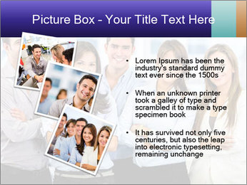 Happy business team PowerPoint Template - Slide 17