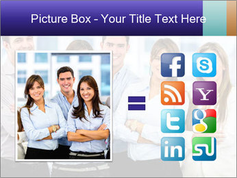 Happy business team PowerPoint Template - Slide 21