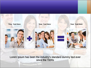 Happy business team PowerPoint Template - Slide 22
