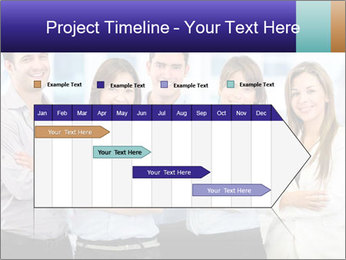 Happy business team PowerPoint Template - Slide 25