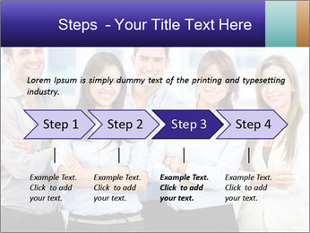 Happy business team PowerPoint Template - Slide 4