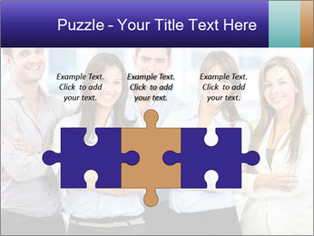 Happy business team PowerPoint Template - Slide 42