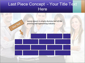 Happy business team PowerPoint Template - Slide 46