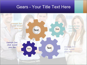 Happy business team PowerPoint Template - Slide 47