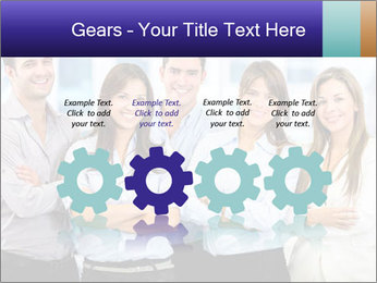 Happy business team PowerPoint Template - Slide 48
