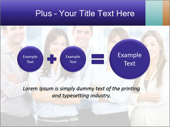 Happy business team PowerPoint Template - Slide 75
