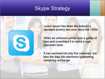 Happy business team PowerPoint Template - Slide 8