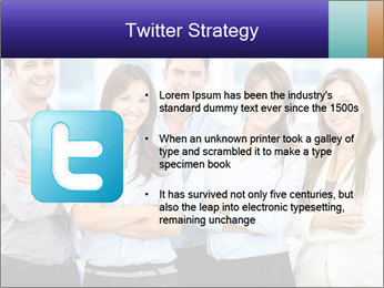 Happy business team PowerPoint Template - Slide 9