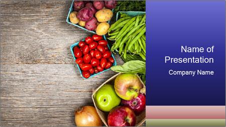 Fresh farmers market fruit PowerPoint Template