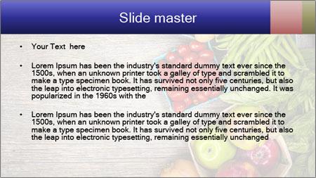 Fresh farmers market fruit PowerPoint Template - Slide 2