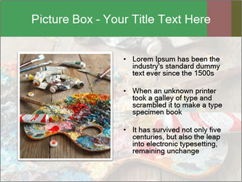 Palette with oil paint PowerPoint Templates - Slide 13
