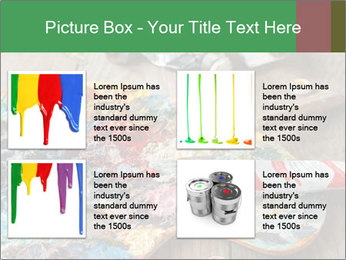 Palette with oil paint PowerPoint Template - Slide 14