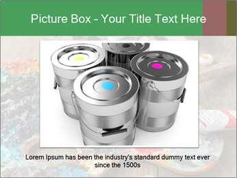 Palette with oil paint PowerPoint Template - Slide 15