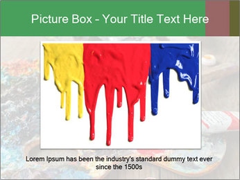 Palette with oil paint PowerPoint Templates - Slide 16