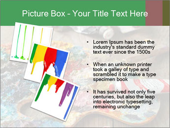 Palette with oil paint PowerPoint Template - Slide 17