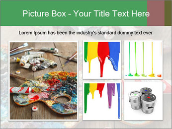 Palette with oil paint PowerPoint Template - Slide 19