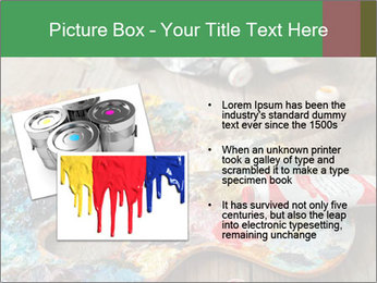 Palette with oil paint PowerPoint Template - Slide 20