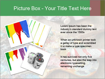 Palette with oil paint PowerPoint Template - Slide 23