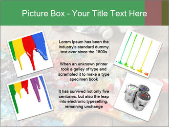 Palette with oil paint PowerPoint Template - Slide 24